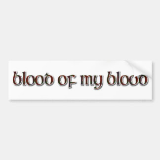 Autocollant De Voiture Tartan de Fraser : Sang de mon sang