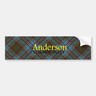 Autocollant De Voiture Tartan d'écossais d'Anderson de clan