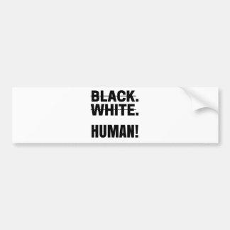 Autocollant De Voiture Tasse humaine blanche noire de sweat - shirt à