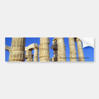 Autocollant De Voiture Temple de Poseidon - Sounio