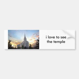 Autocollant De Voiture Temple mormon de l'Utah de montagne de LDS Oquirrh