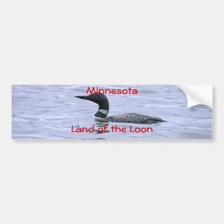 Autocollant De Voiture Terre du Minnesota du dingue