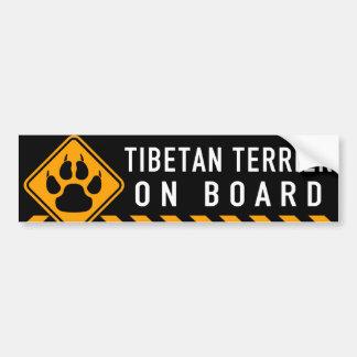 Autocollant De Voiture Terrier tibétain à bord