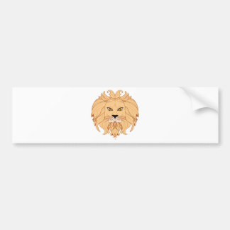 Autocollant De Voiture Tête stylisée de lion
