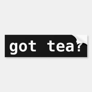 Autocollant De Voiture thé obtenu ? Thé drôle politique