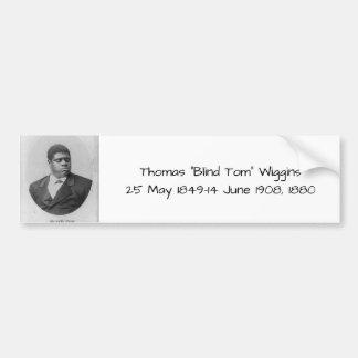 "Autocollant De Voiture Thomas ""Tom aveugle"" Wiggins"