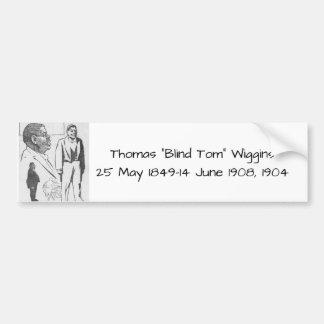 "Autocollant De Voiture Thomas ""Tom aveugle"" Wiggins, 1904"