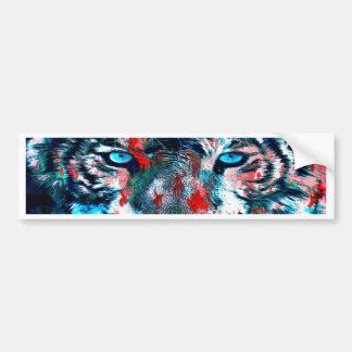 Autocollant De Voiture Tigre artistique