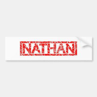Autocollant De Voiture Timbre de Nathan