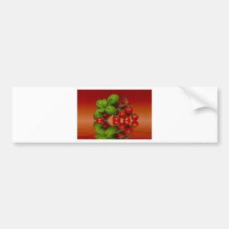 Autocollant De Voiture Tomates cerise rouges Basil