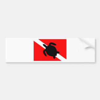 Autocollant De Voiture Tortue de drapeau de piqué III