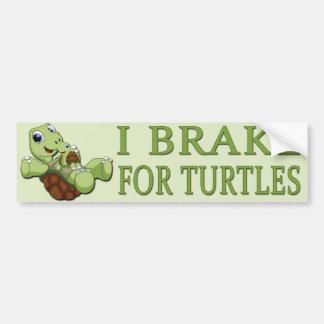 Autocollant De Voiture Tortues mignonnes - frein d'I pour des tortues