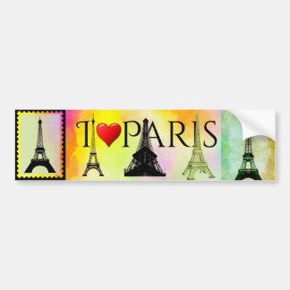 Autocollant De Voiture Tour Eiffel Bumpersticker