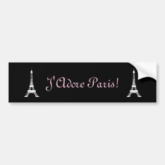 Autocollant De Voiture Tours Eiffel français noirs et blancs chics de