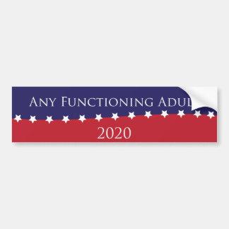 Autocollant De Voiture Tout adulte de fonctionnement pour le Président