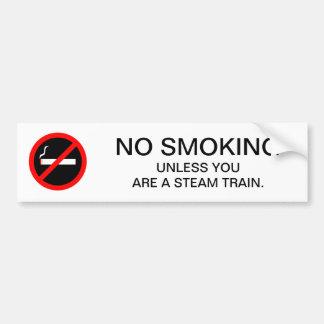 Autocollant De Voiture Trains NON-FUMEURS drôles de vapeur de signe