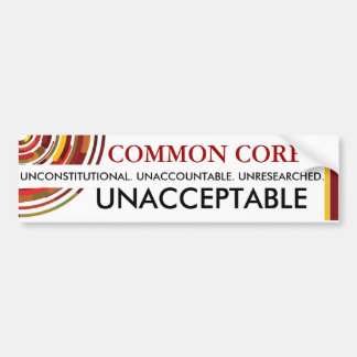 Autocollant De Voiture Tronc commun inacceptable