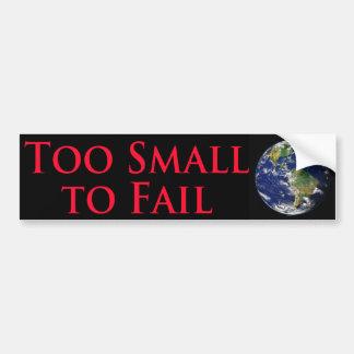 Autocollant De Voiture Trop petit pour échouer - avec l'image de la terre