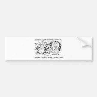 Autocollant De Voiture typographie française vintage de la publicité