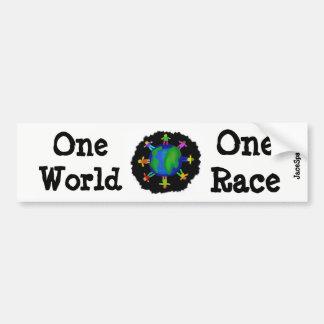 Autocollant De Voiture Un monde, une course
