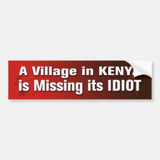 Autocollant De Voiture Un village au Kenya manque son Sti de pare-chocs