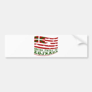 Autocollant De Voiture United States of Euskadi 2