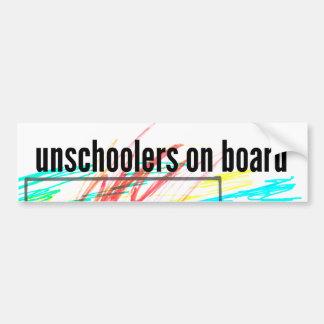 Autocollant De Voiture Unschoolers à bord