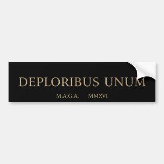 Autocollant De Voiture unum de deploribus (deplorables)