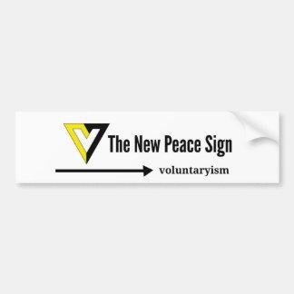 Autocollant De Voiture V pour Voluntaryism