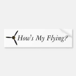 Autocollant De Voiture Va-t-il comment mon vol ?