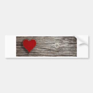 Autocollant De Voiture Valentines naturels de coeur