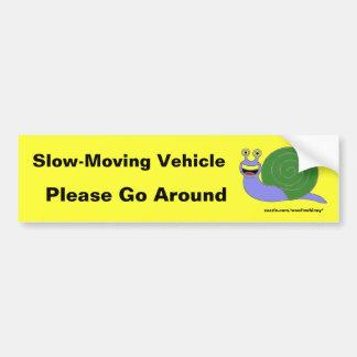 Autocollant De Voiture Véhicule lent