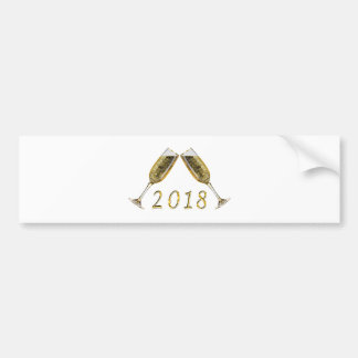 Autocollant De Voiture Verres 2018 de Champagne