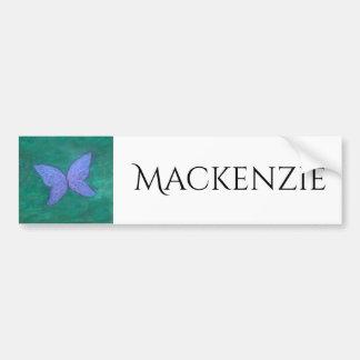 Autocollant De Voiture Vert bleu pourpre nommé passionné de papillon de