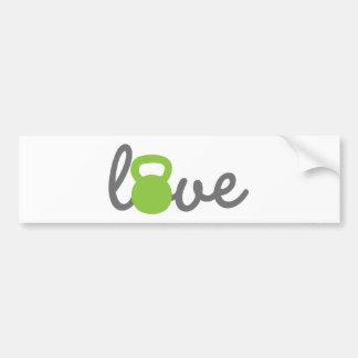 Autocollant De Voiture Vert de Kettlebell d'amour