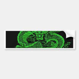 Autocollant De Voiture Vert épique de dragon