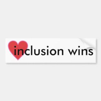 Autocollant De Voiture victoires d'inclusion