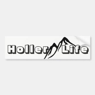 Autocollant De Voiture Vie de montagne de la vie de Holler