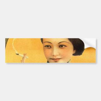 Autocollant De Voiture vieille femme de Changhaï d'affiche chinoise