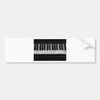 Autocollant De Voiture Vieille musique d'instrument de clavier de piano à