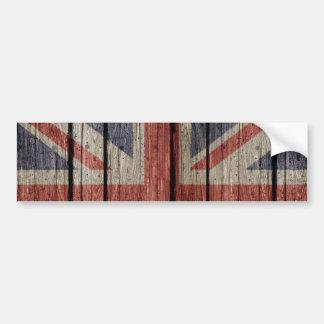 Autocollant De Voiture Vieux drapeau en bois à la mode frais impressionna