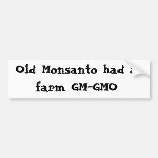 Autocollant De Voiture Vieux Monsanto a eu une ferme GM-GMO