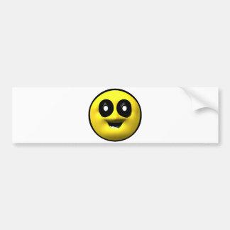 Autocollant De Voiture Vieux smiley jaune