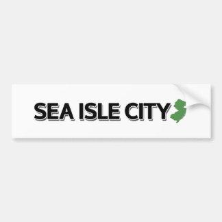 Autocollant De Voiture Ville d'île de mer, New Jersey