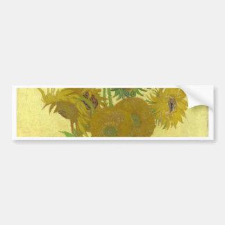 Autocollant De Voiture Vincent van Gogh - tournesols - peinture classique