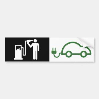 Autocollant De Voiture Voiture verte électrique d'icône de kamikaze