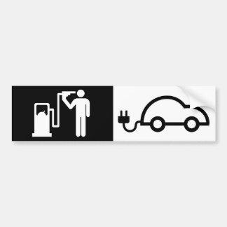 Autocollant De Voiture Voiture verte électrique humaine de pompe à gaz de