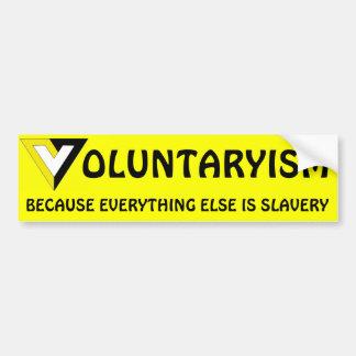 Autocollant De Voiture Volontarisme