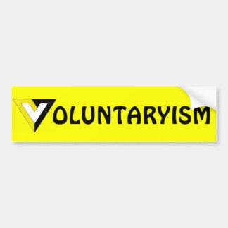 Autocollant De Voiture Voluntaryism