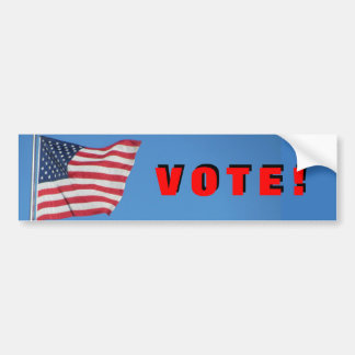 Autocollant De Voiture Vote !  avec le rouge de drapeau des Etats-Unis